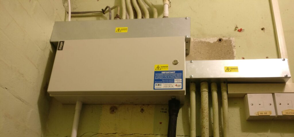 SCHOOL CLEANERS CUPBOARD Electrics by Kennet Electrical